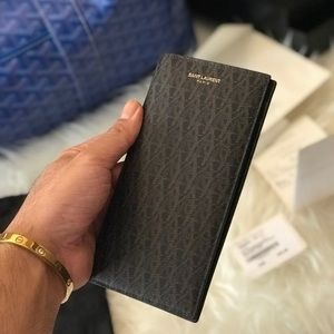 SAINT LAURENT / YSL CLASSIC  MONOGRAM WALLET AUTH